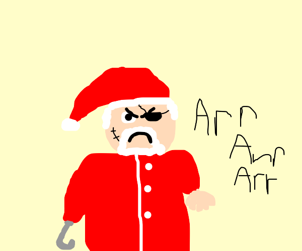 Santa is a pirate