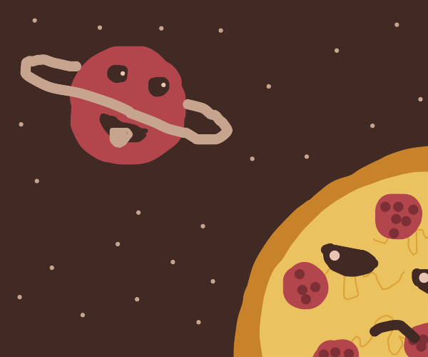 planet longing for eating pizzaplanet
