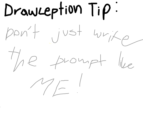 hints and tips on drawception