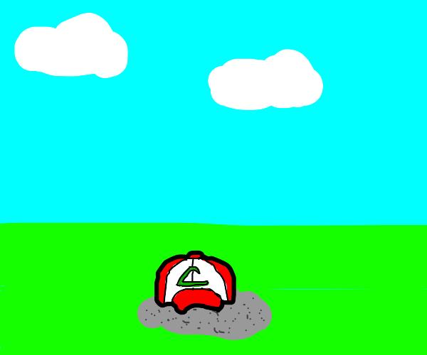 Ash (Pokemon)...Except it's a pile of ash