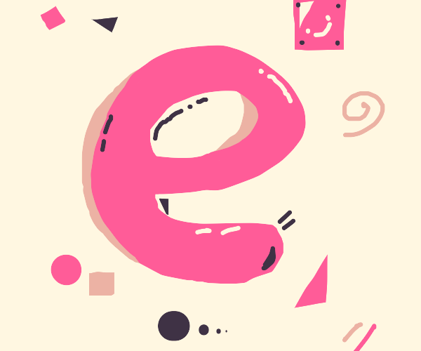 A Pink E with decoration