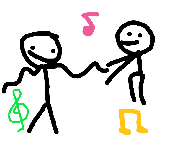 Picture of two people dancing