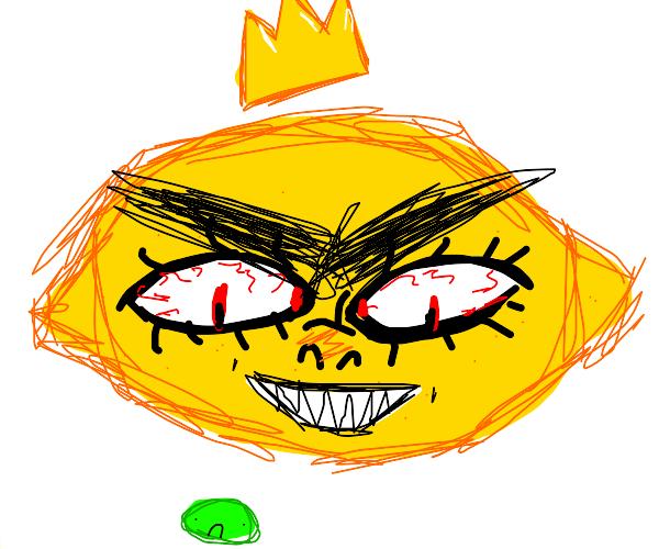 king lemon scares tiny lime