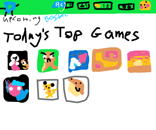 """Today's top games"" page"