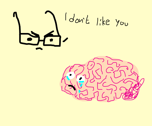 glasses don't like brain