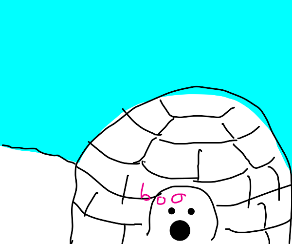 an igloo with a ghost inside