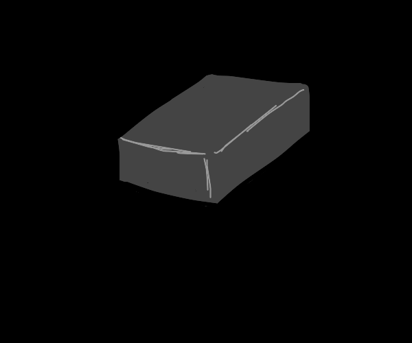 A gray, boring block