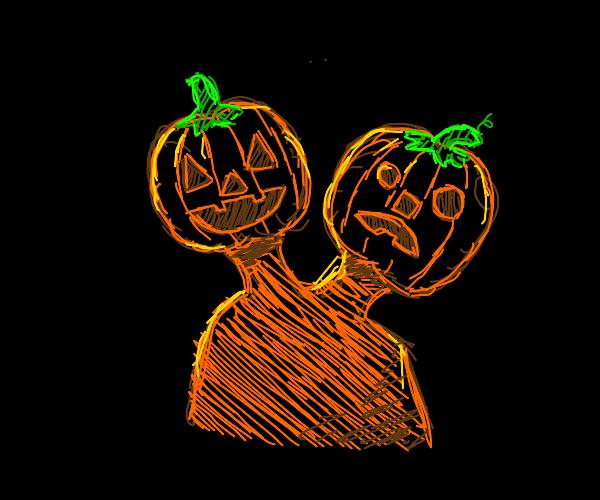 two headed jack o lantern