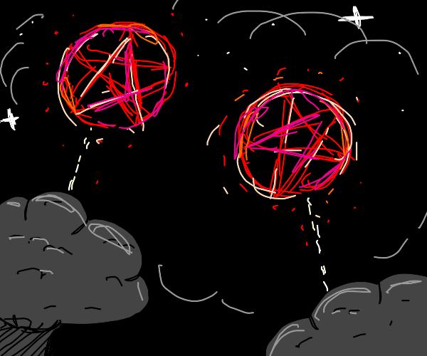 pentagram fireworks