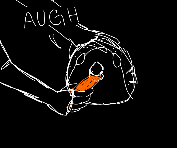pufferfish eating carrot meme