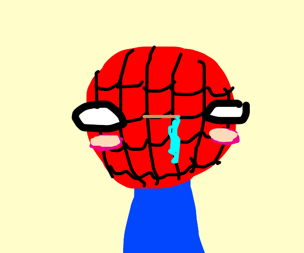 Spiderman Blushing And Drooling