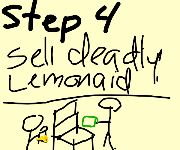 Step 3: buy murderous grape lemonade