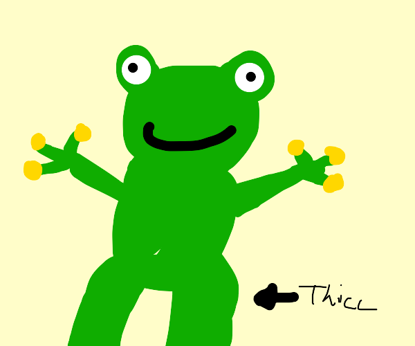 Frog with thicc legs