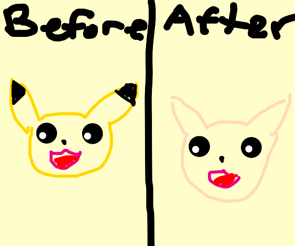 Pikachu was shaved