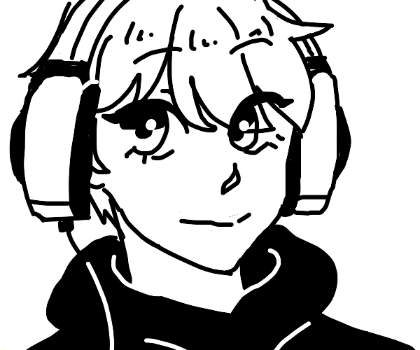 Hot anime character (boy) with a headset.