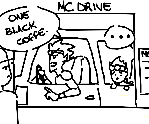 dio is a good dad to his son at mcdonalds