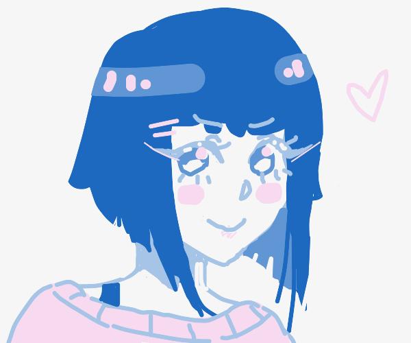 blue haired white girl