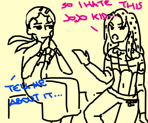 Diavolo and priest have a nice sit down talk