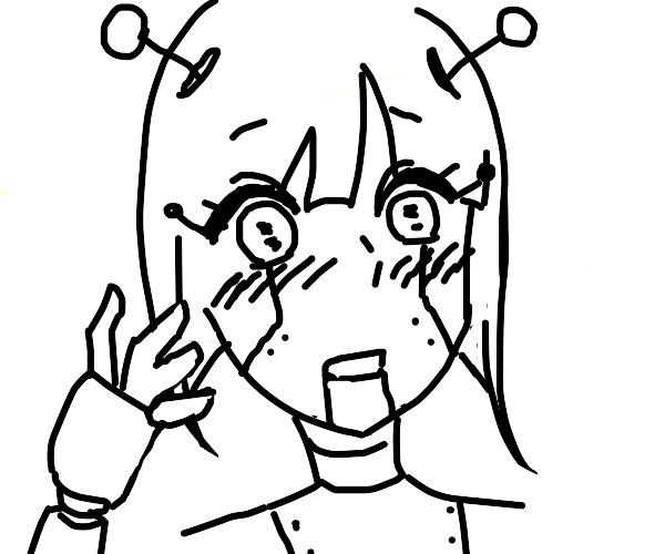 Blushing android