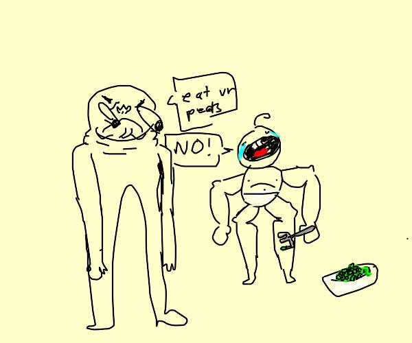 Eat your peas child