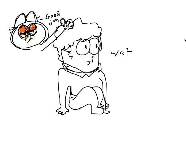 Garfield pets confused Jon