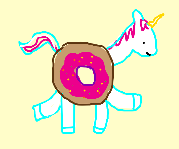 Donut unicorn inner tube