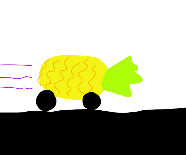 Car turns into pineapple