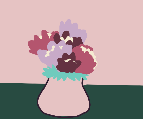 Luscious flowers in a vase