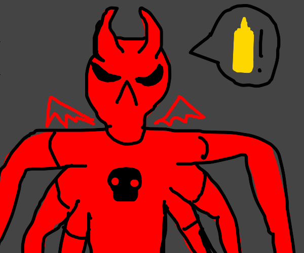 Six armed demon demands mustard