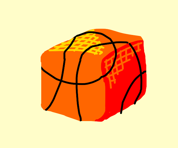 Basketball but not round