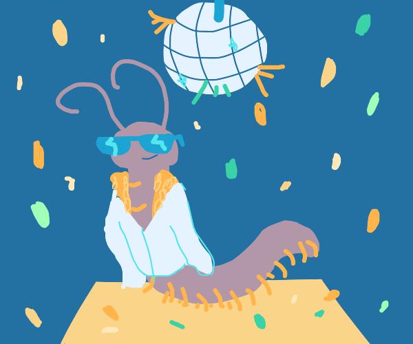 Centipede in a disco