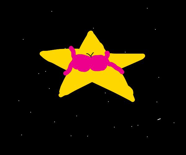 Star wearing a bra
