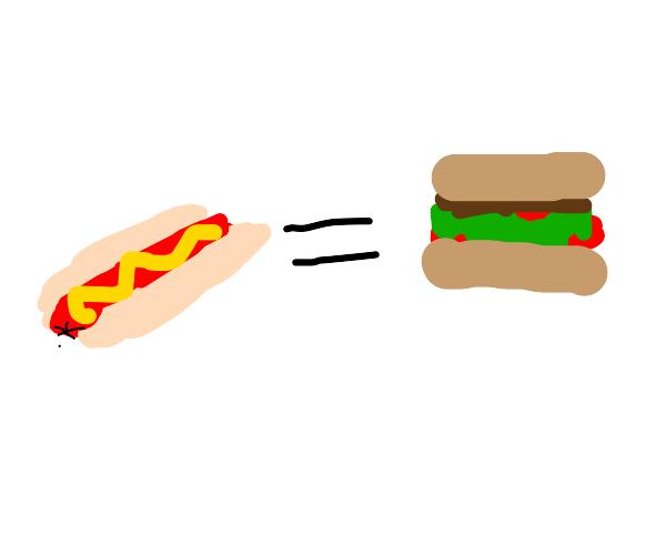 hotdog is indeed a sandwich