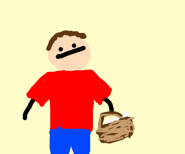 Guy with basket
