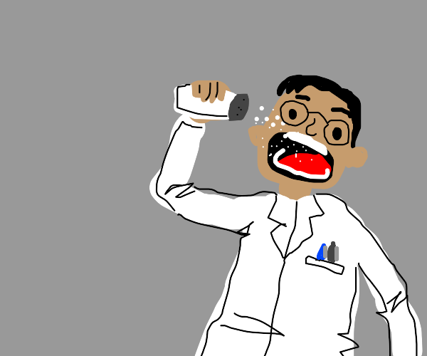 Scientist eating Salt