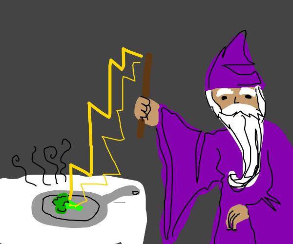 How a wizard heats up his veggies