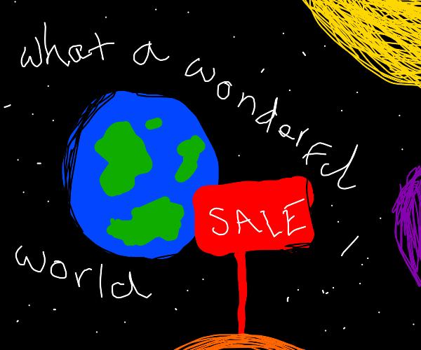 Rod Stewart's What a Wonderful World on sale