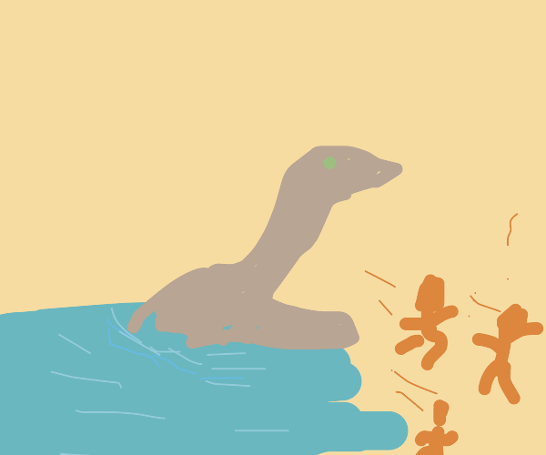 Nessie is back from the water destroying peop