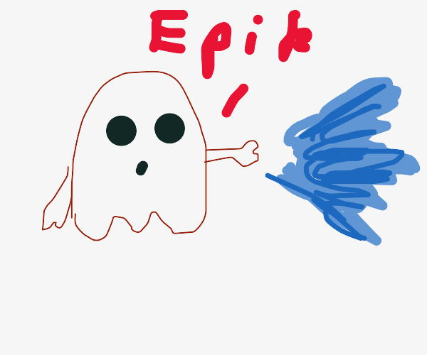 Ghost shoots water out of hand and say Epik.