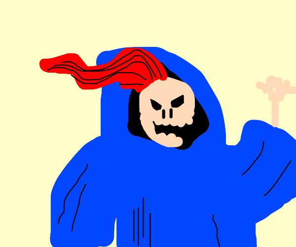 Skeletor goes Death Metal with Red Hair