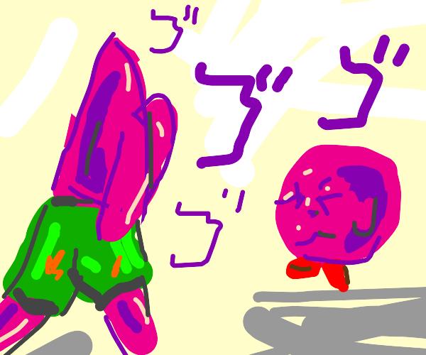 Patrick Star meets Kirby