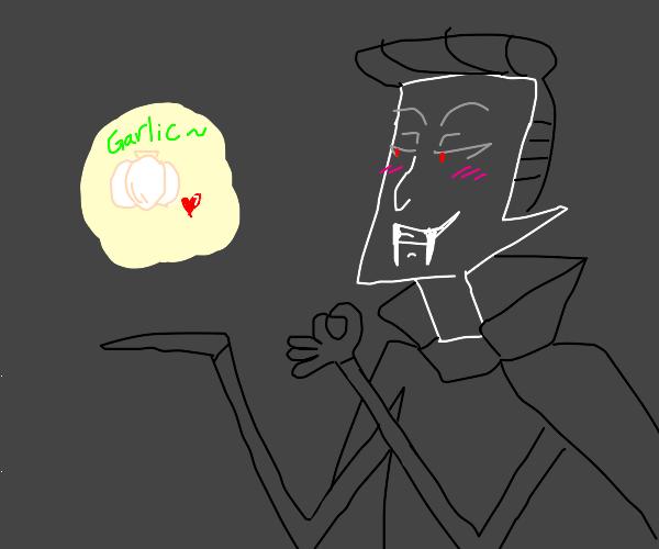 Vampire likes garlic