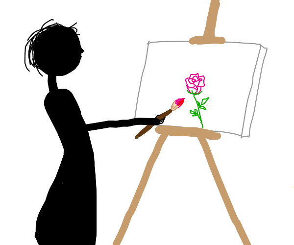 painting a rose