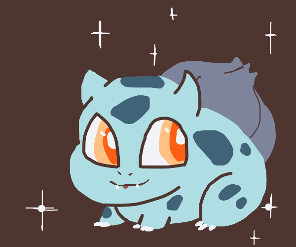 Cute and excited Bulbasaur.
