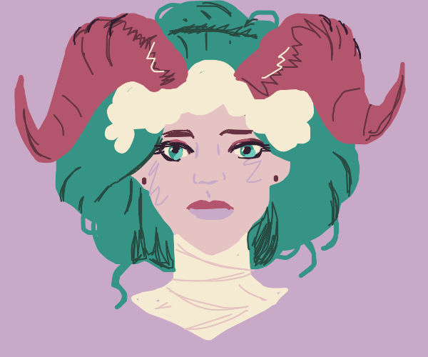 lady with ram horns