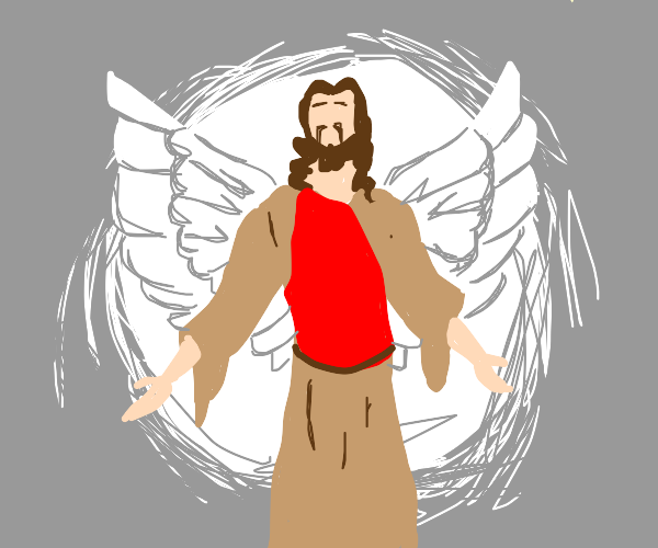 Jesus Christ with Angel wings