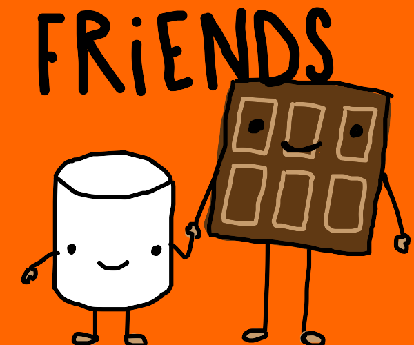 hersheys and marshmello are friends