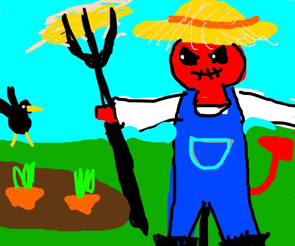 demon farmer scarecrow