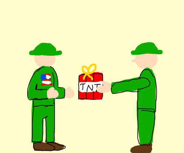 Vietcong gifts tnt to Americans