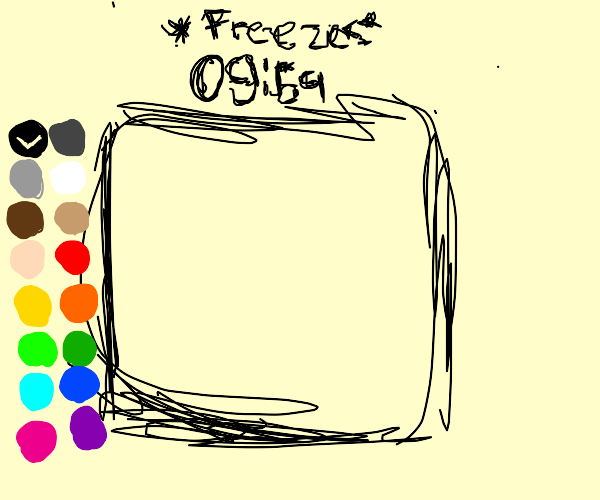 drawception timer freezes at 9:59